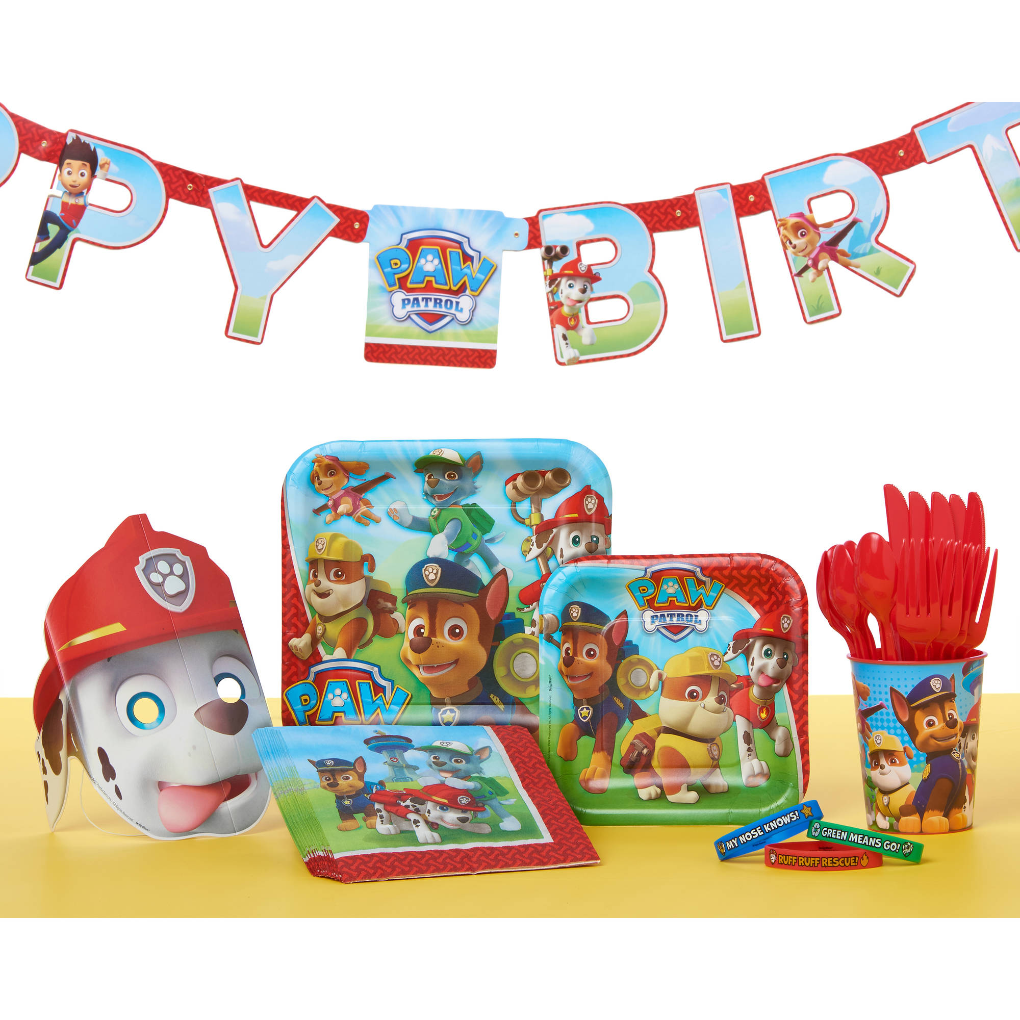 Paw Patrol Birthday Party Decoration Banner 759 Ft Walmart
