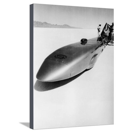 Land Speed Record Car - Goldenrod' Land Speed Record Car, Bonneville Salt Flats, Utah, USA, C1965 Stretched Canvas Print Wall Art
