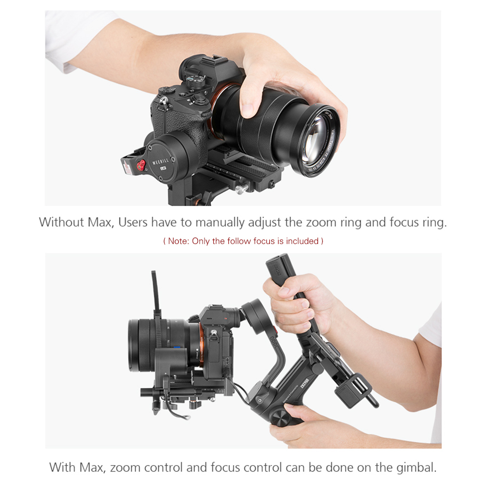 ZHIYUN Max CMF04 TransMount Servo Follow Focus//Zoom Controller Stabilizer with Adjustable Gear Ring Compatible with Weebill Lab//Crane 3 Lab DSLR Gimbal