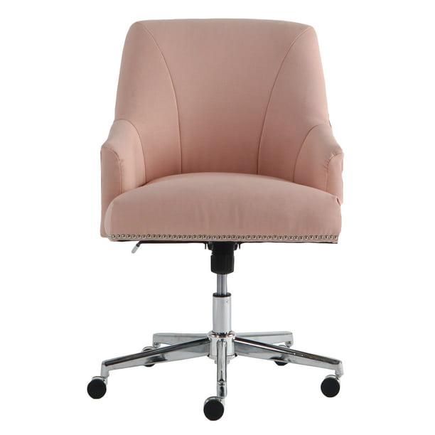 Serta Style Leighton Home Office Chair Blush Pink Twill Fabric Walmart Com Walmart Com