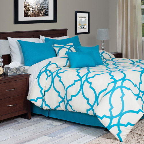 Somerset Home 7 Piece Oversized Trellis Comforter Set