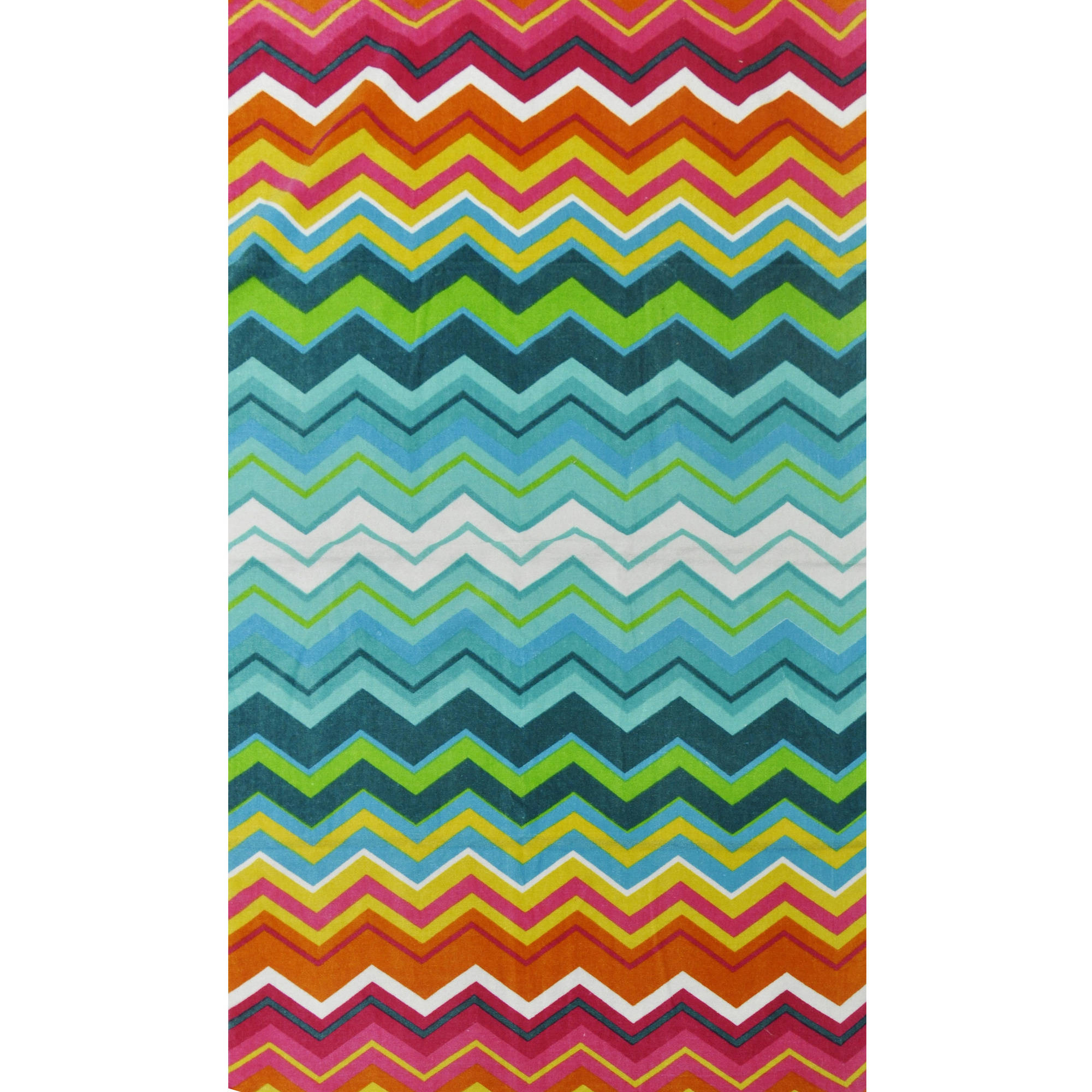 Beach House Chevron Cotton Beach Towel