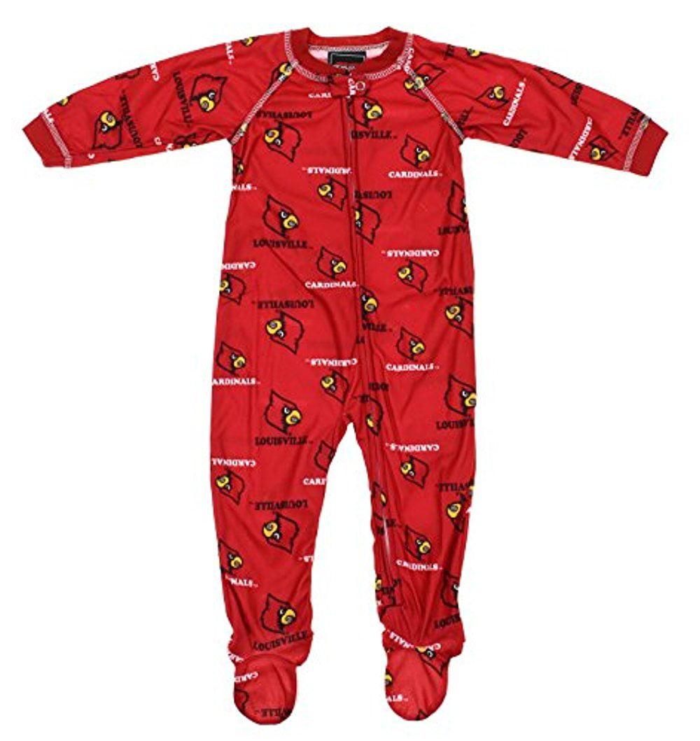 NCAA Infant Louisville Cardinals Raglan Zip-up Coverall Sleeper