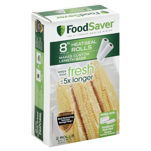 "FoodSaver Vacuum Sealer Rolls, Freezer, 8""x20', 2 Ct"