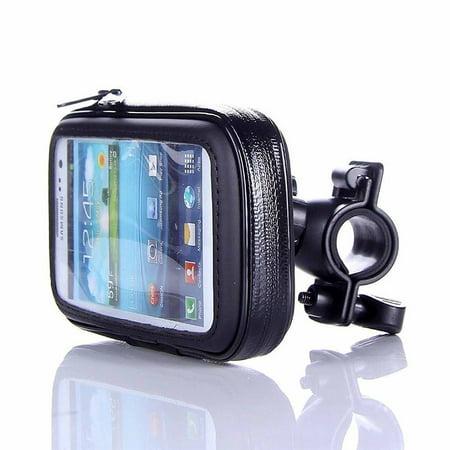 Bike Phone Bag, Black Touch Screen Bike Mount Waterproof Phone GPS Case Bike Bicycle Handlebar Holder Bag, for Universal Cell (Best Gun Mounted Torch)