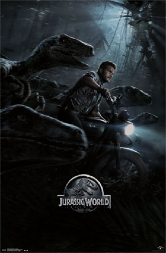 Jurassic World One SHeet Poster Print by Rolled Poster