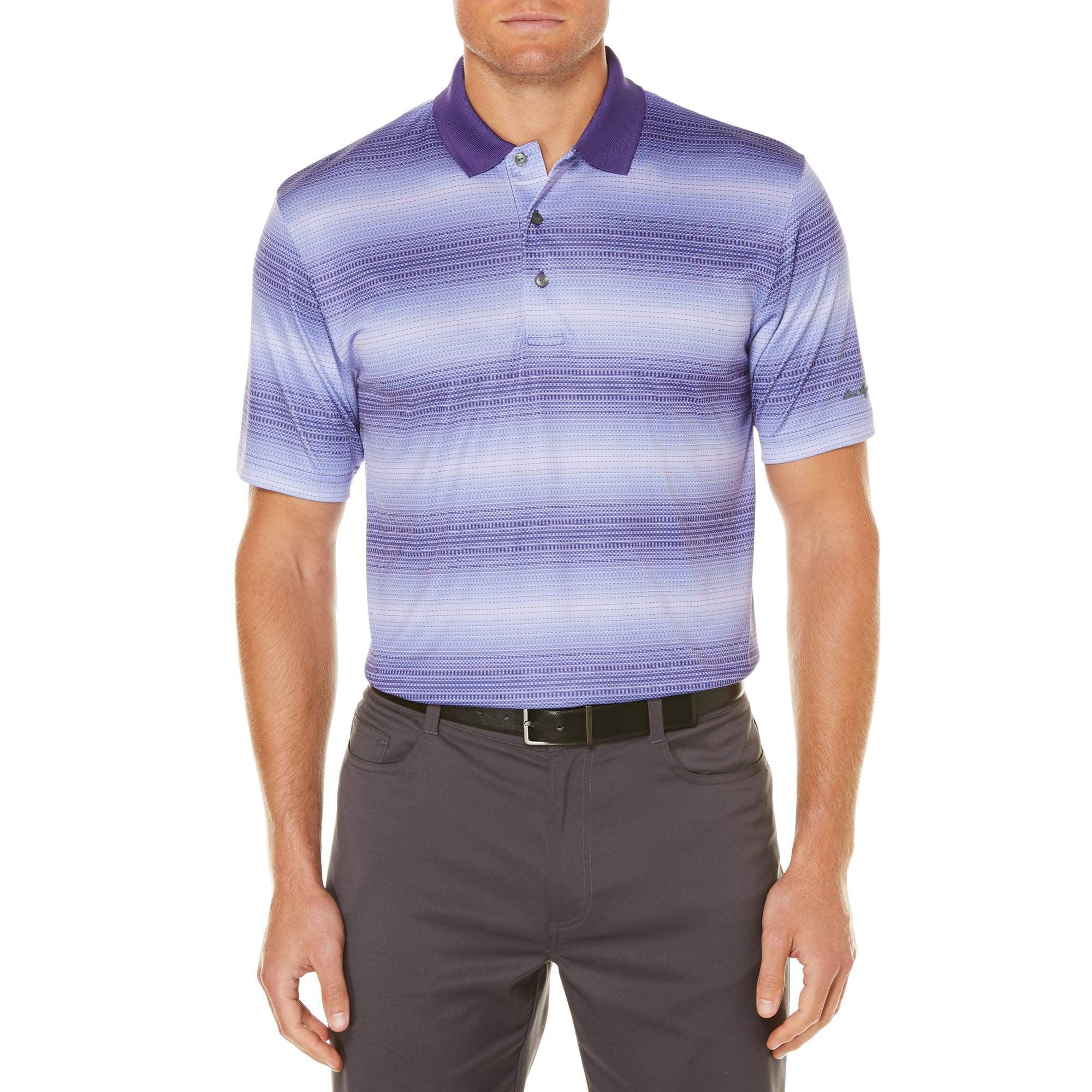 Men's Performance Short Sleeve Tonal Stripe Golf Polo Shirt