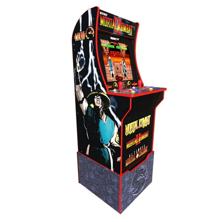 Mortal Kombat Arcade Machine w/ Riser, Arcade1UP (Includes Mortal Kombat I, II, III) (Arcade Machine Mortal Kombat)