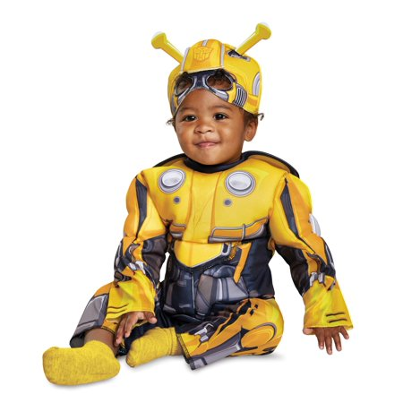 Disguise Bumblebee Toddler Muscle Child Costume Yellow Medium/(3T-4T)](Bumblebee Transformer Costumes)