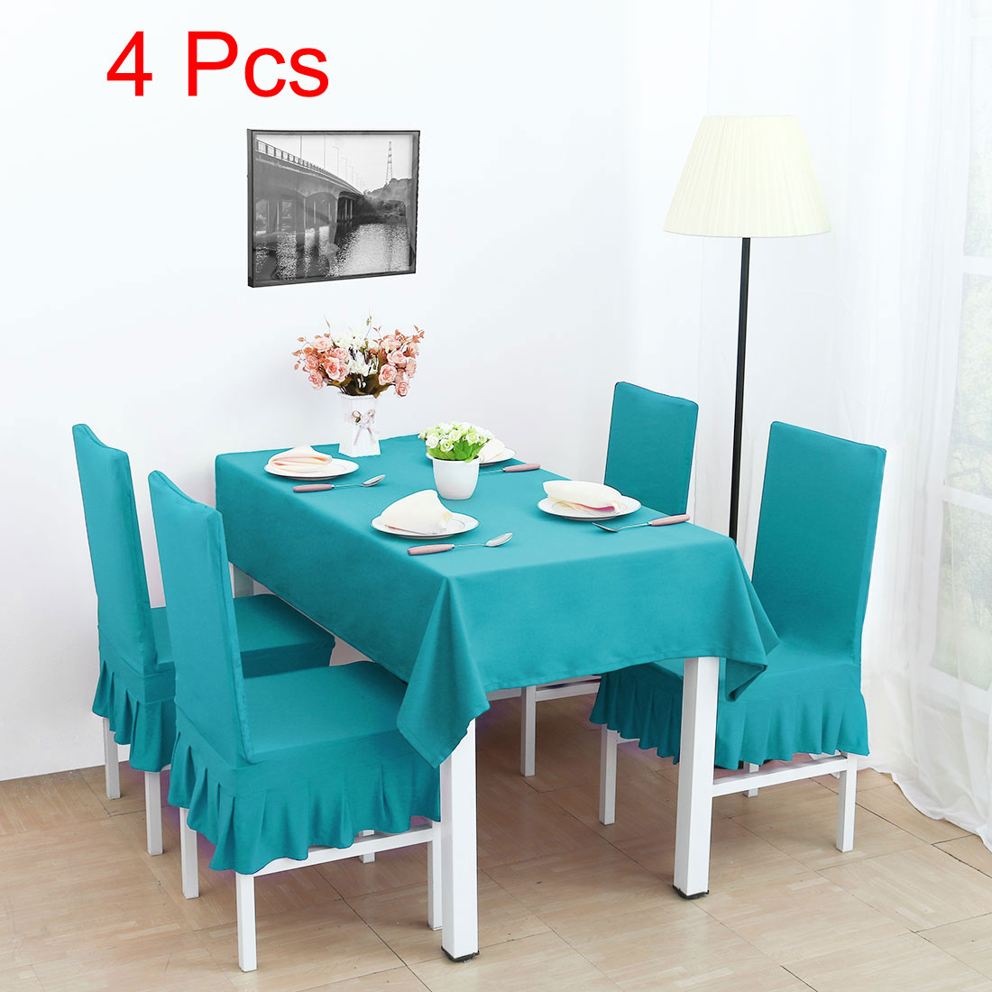 Spandex Stretch Dining Chair Cover Protector Seat Slipcover Cyan    Walmart.com