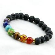 Genuine Chakra Healing Natural Stone  7 Bead Bracelet