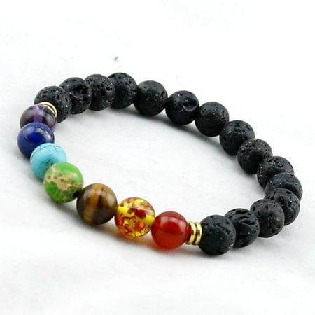 Genuine Chakra Healing Natural Stone  7 Bead