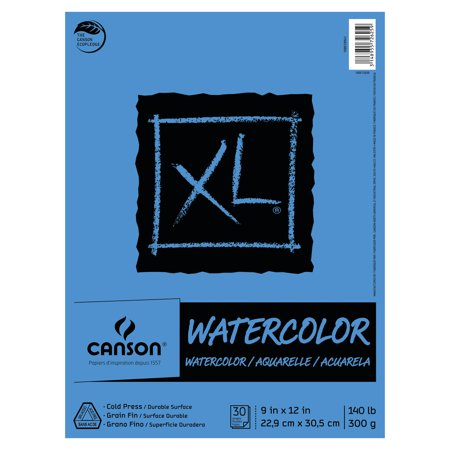 Gypsy Paper Pad - Canson XL Watercolor Pad, 9