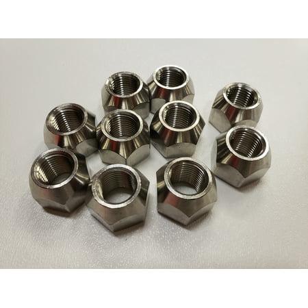 Ten (10) Pack Open 304 Stainless Steel 1/2-20 Lug Nuts For Trailer Wheel Rim