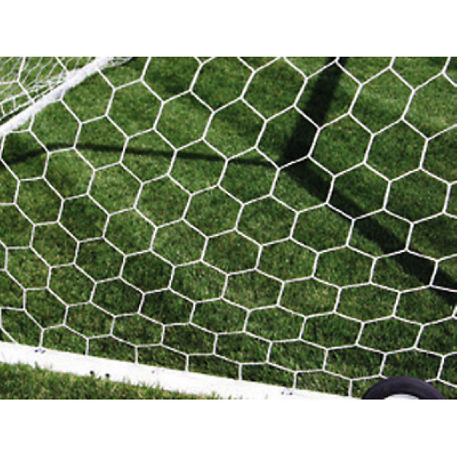 First Team White 3mm Hexagonal Soccer Net