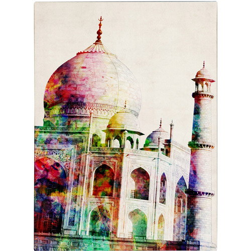 Trademark Art 'Taj Mahal' Canvas Art by Michael Tompsett