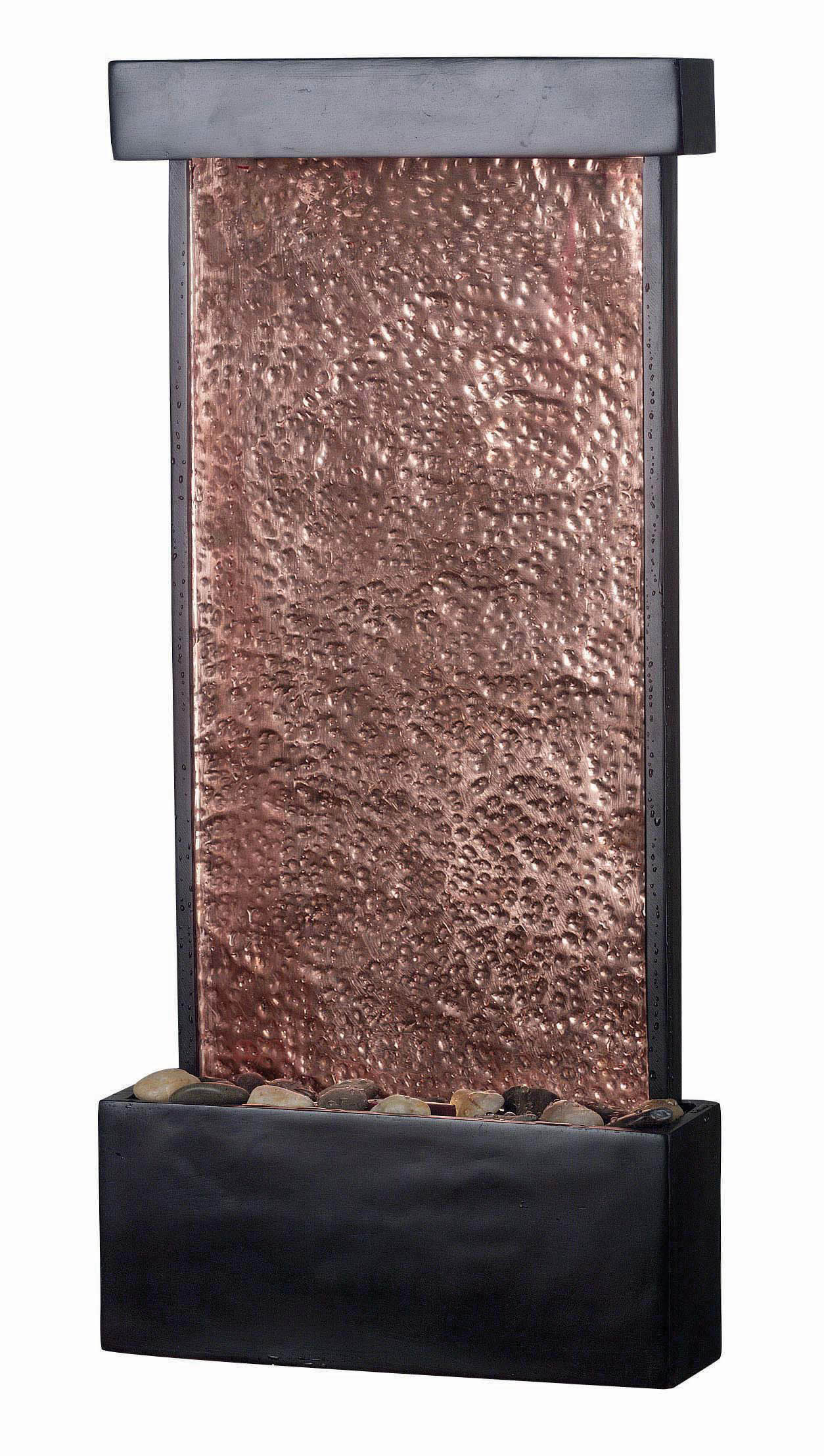 Kenroy Home Falling Water Oil Rubbed Bronze with Natural Hammered Copper Indoor Wall Table... by Fountains