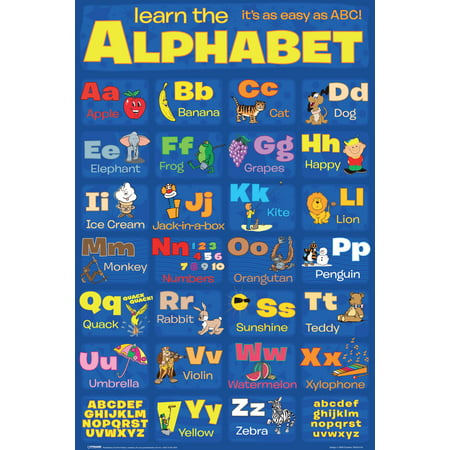 Learn the Alphabet Letters Classroom Chart Educational Reading Poster - 12x18 - Alphabet Letters Posters
