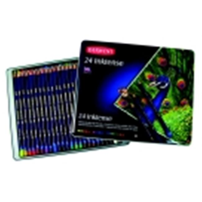 Derwent Inktense Non-Toxic Water Soluble Colored Pencil Set - Assorted Color, Set - 24