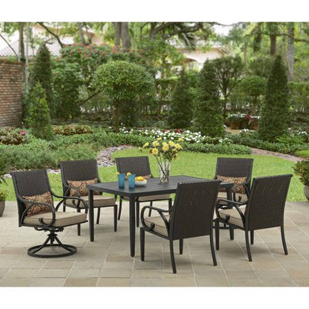 Better Homes and Gardens Layton Ridge 7 Piece Patio Dining Set. Better Homes and Gardens Layton Ridge 7 Piece Patio Dining Set