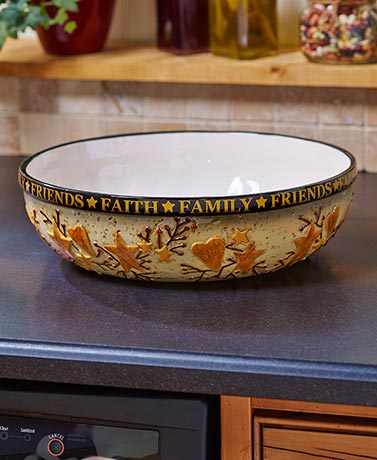 Country Kitchen Collection Oversized Serving Bowl by