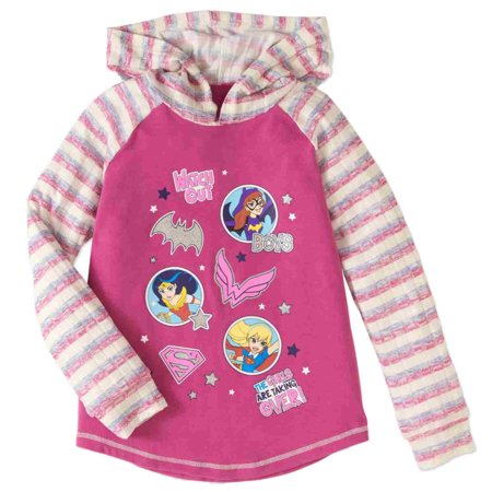 DC Comics Girls Pink Girls Are Taking Over Hoodie Wonder Woman Batgirl T-Shirt (Batgirl Hoodie)