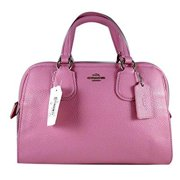 coach nolita marshmallow 2 pebbled leather satchel bag 33735 by