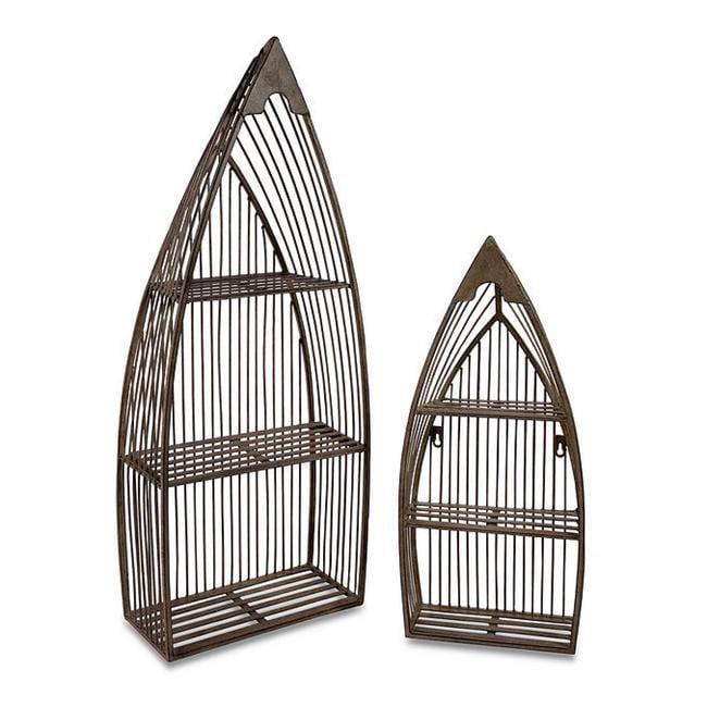 Home Decor Improvements 10667-2 Nesting Boat Shelves - Set of 2