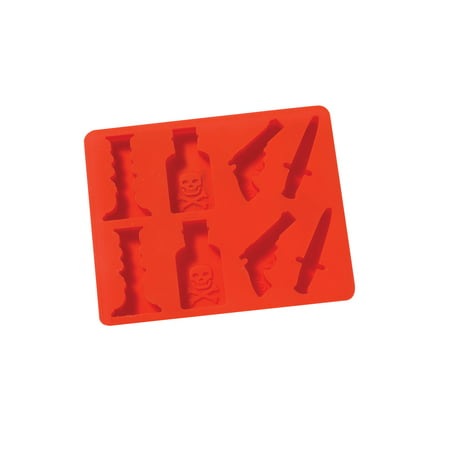 Jam Tray - What on Earth Murder Mystery Ice Cube Tray - BPA-Free Silicone Weapon Shaped Mold for Candy Making or Gelatin Setting