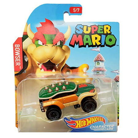 Hot Wheels Super Mario Bowser Diecast Character Car [5/7] (Remote Control Bowser)