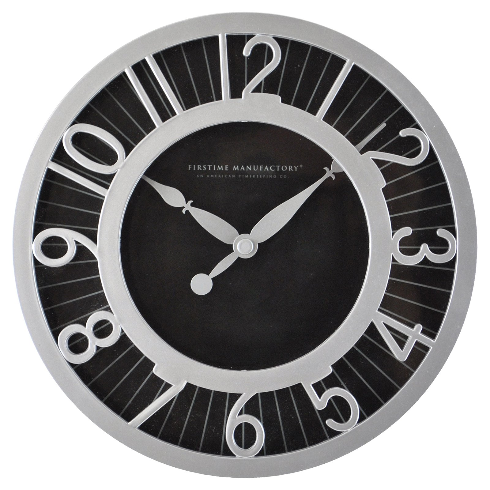 FirsTime Black Radiant Wall Clock