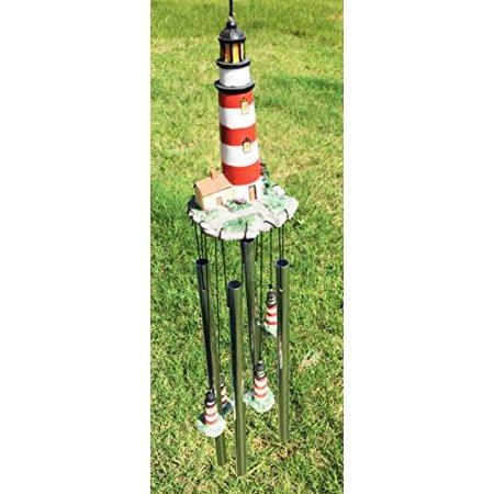 Assateague Islands Lighthouse Nautical Beacon Resonant Relaxing Wind Chime Patio Garden Decor