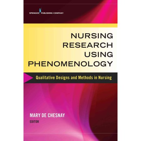 phenomenology research methods Chapter 3 research design and methodology however, phenomenological research methodology is difficult to explain because it has no clearly defined steps.