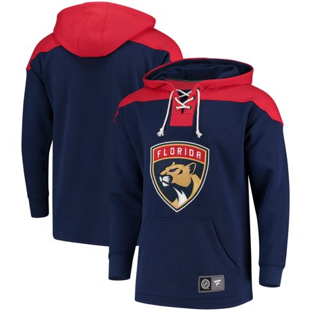 6fba2c86ec7 Florida Panthers Fanatics Branded Breakaway Lace Up Hoodie - Navy Red -  Walmart.com