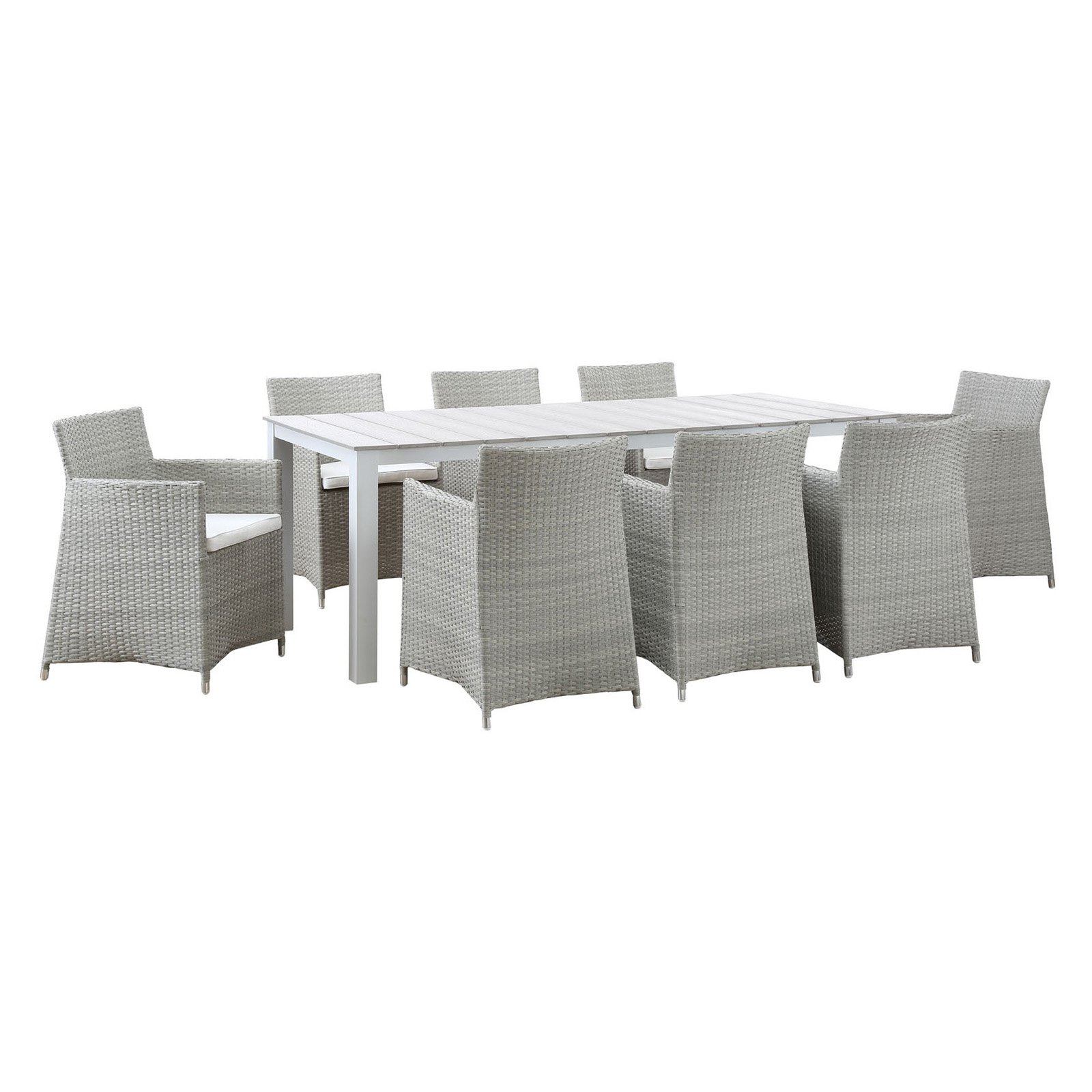 Modway Junction 9 Piece Outdoor Patio Dining Room Set, Multiple Colors by Modway