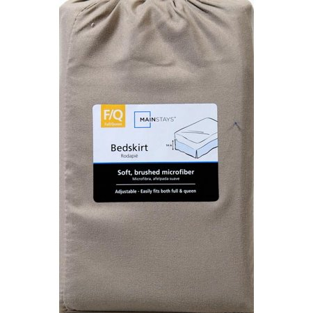 Mainstays Microfiber Solid Bed Skirt, Brown, 1 Each