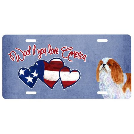 - Woof if you love America English Toy Spaniel License Plate SS5018LP