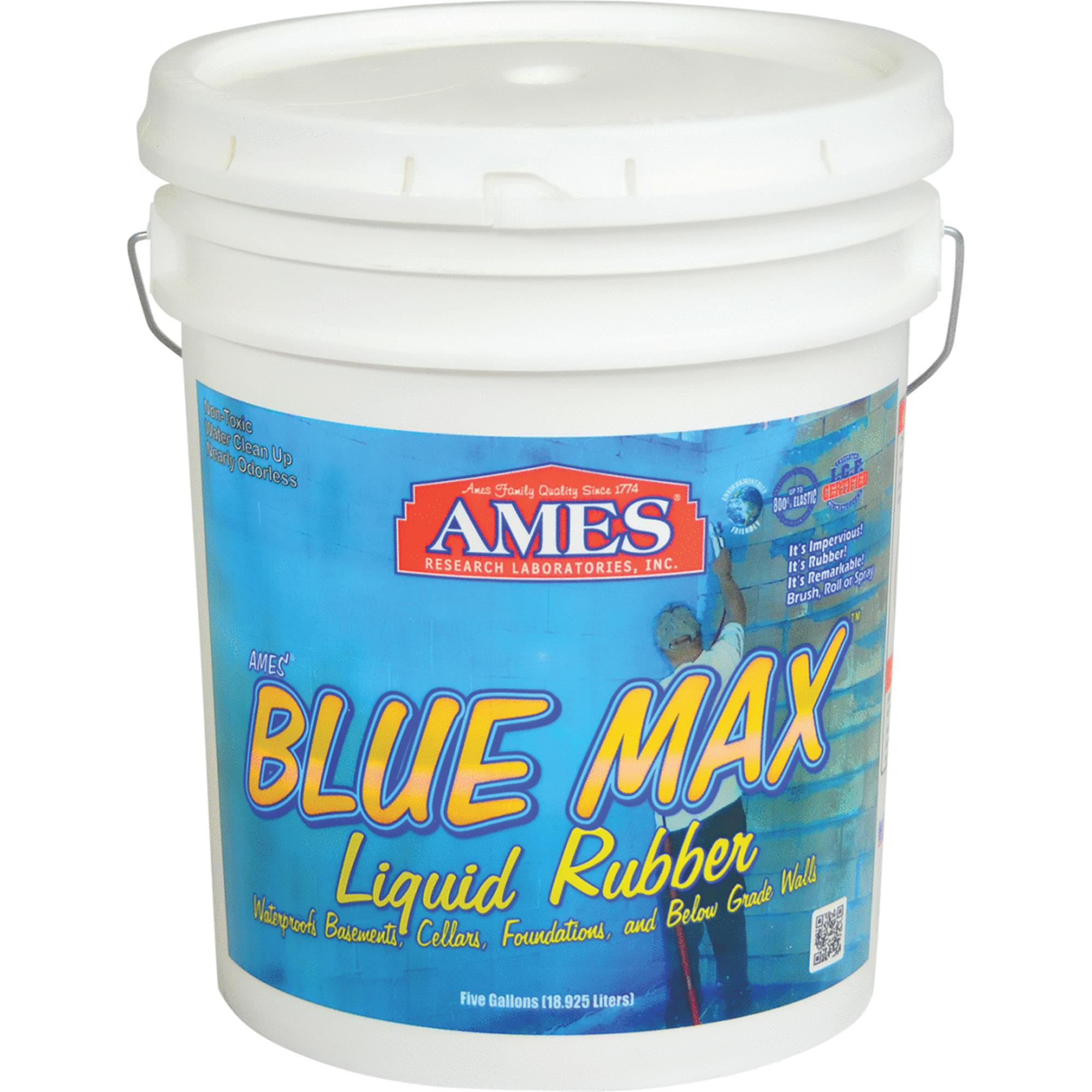 Ames Blue Max Liquid Rubber for Basements and Foundations 5 gallon