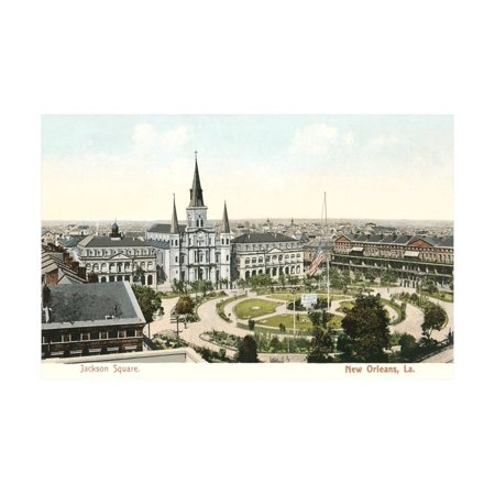 Jackson Square, New Orleans Print Wall Art (Jackson Square Print)