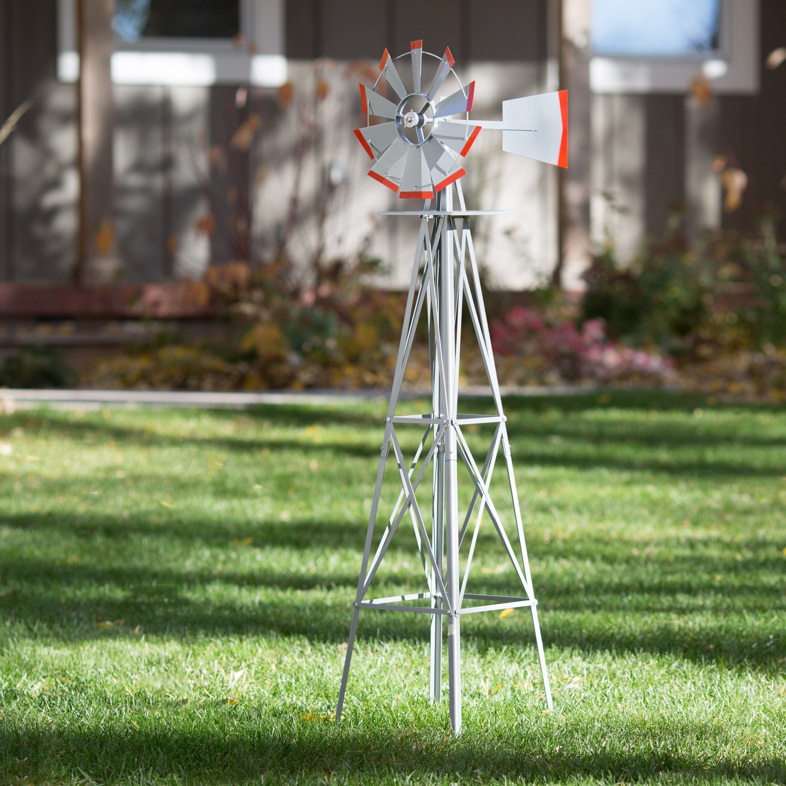 SMV Industries 4.5 ft. Windmill - Silver and Red