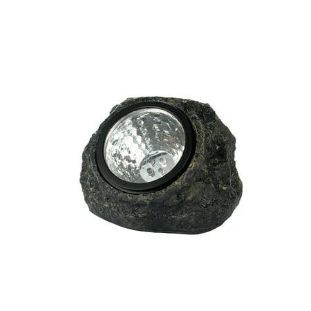 Four Light Spotlight Kit - Outdoor Solar Light Graden Rock Spot Lights - 4 Piece Set by Moxava