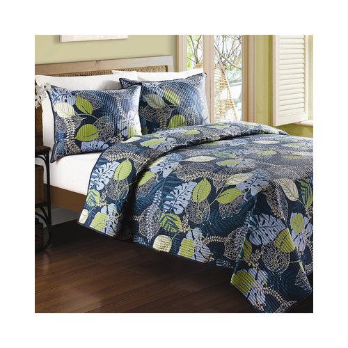 Bundle-10 J&J Bedding Tropical Leaves Quilt Collection (3 Pieces)
