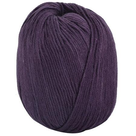 Acrylic Fiber Sweater Hat Gloves Slippers Crochet Knitting Yarn Dark Purple
