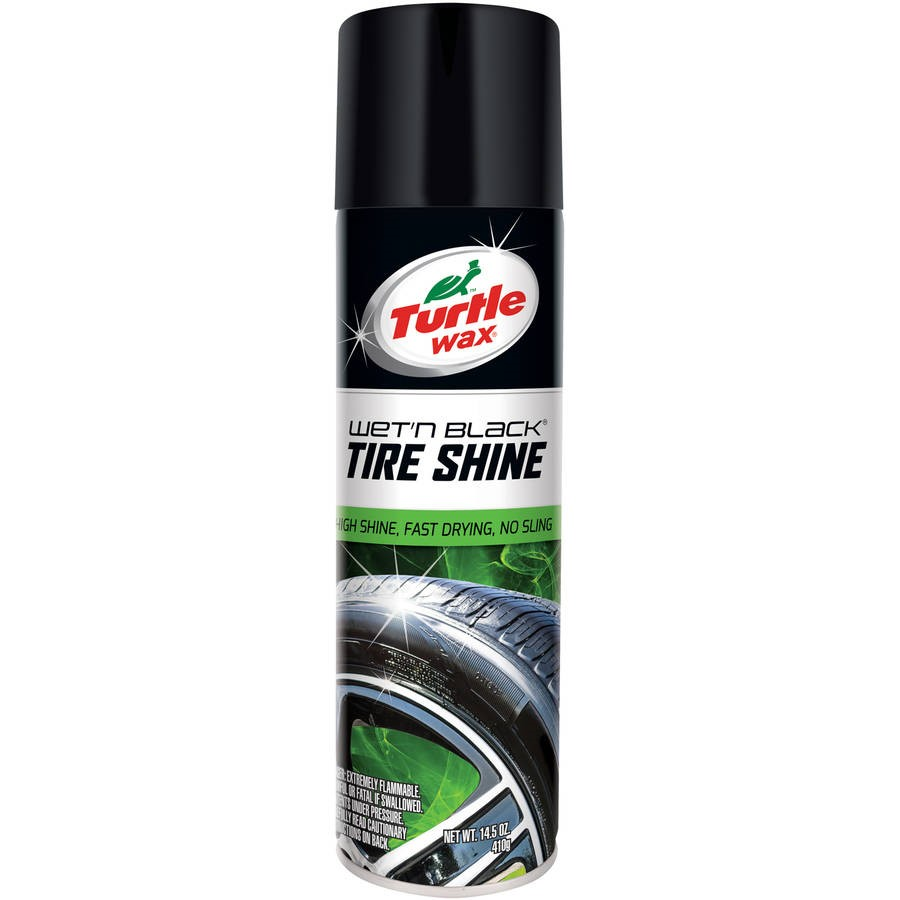Turtle Wax Wet N' Black Ultra Wet Aerosol Tire Shine, 14.5oz