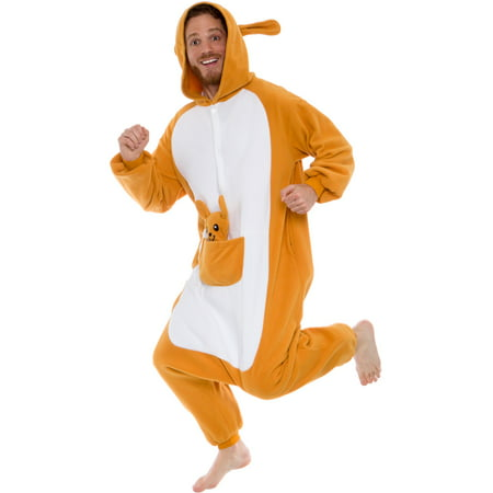 SILVER LILLY Unisex Adult Plush Animal Cosplay Costume Pajamas (Kangaroo) - Cosplay Costumes Plus Size