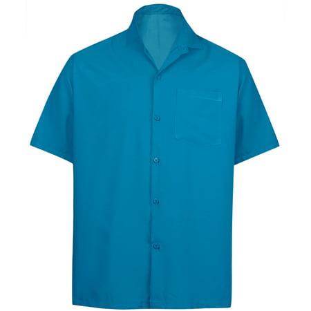 459c8aeb HAPPY BAY - Hawaiian Shirt Mens Beach Aloha Camp Party Holiday Button Down  Pocket Plain Solid Rayon A - Walmart.com