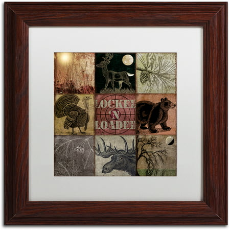 Trademark Fine Art  Cabela Clock  Canvas Art By Color Bakery White Matte  Wood Frame