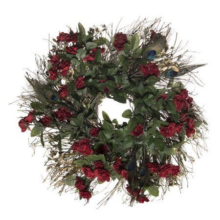 The Holiday Aisle Peacock Feather Holiday Wreath