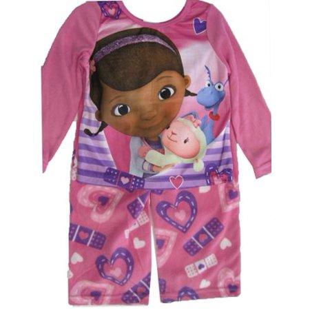 Disney Jr. Little Girls White Purple Doc McStuffins 2 Pc Pajama Set 6 - Doc Mcstuffin Pjs