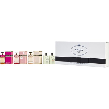 PRADA VARIETY by Prada - 5 PIECE MINI VARIETY WITH LES INFUSION DE PRADA IRIS & LES INFUSION DE PRADA FLEUR D' ORANGER & PRADA CANDY & PRADA CANDY FLORALE & PRADA CANDY L'EAU AND ALL ARE MINIS - WOMEN 5 PIECE MINI VARIETY WITH LES INFUSION DE PRADA IRIS & LES INFUSION DE PRADA FLEUR D' ORANGER & PRADA CANDY & PRADA CANDY FLORALE & PRADA CANDY L'EAU AND ALL ARE MINIS